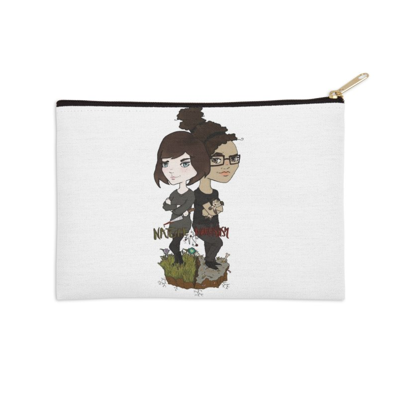 Heather & Marveliz Accessories Zip Pouch by NaturevsNarcissism's Podcast Swag Shop