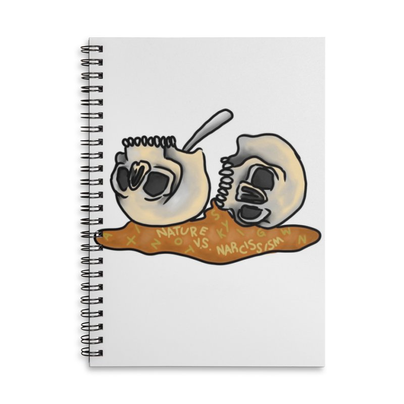 #BrainBowls Accessories Lined Spiral Notebook by NaturevsNarcissism's Podcast Swag Shop