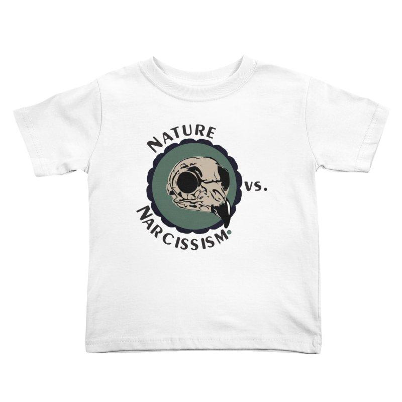 Original Nature vs Narcissism Logo Kids Toddler T-Shirt by NaturevsNarcissism's Podcast Swag Shop