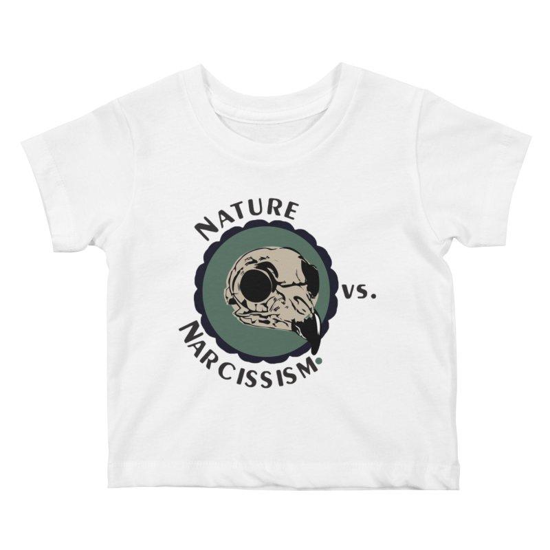 Original Nature vs Narcissism Logo Kids Baby T-Shirt by NaturevsNarcissism's Podcast Swag Shop