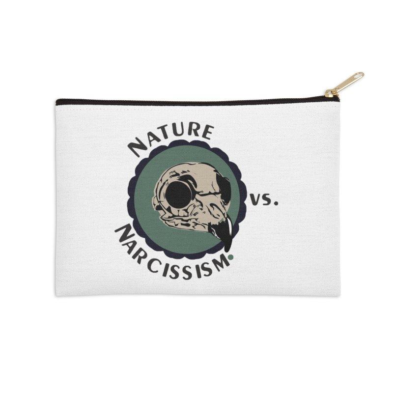 Original Nature vs Narcissism Logo Accessories Zip Pouch by NaturevsNarcissism's Podcast Swag Shop