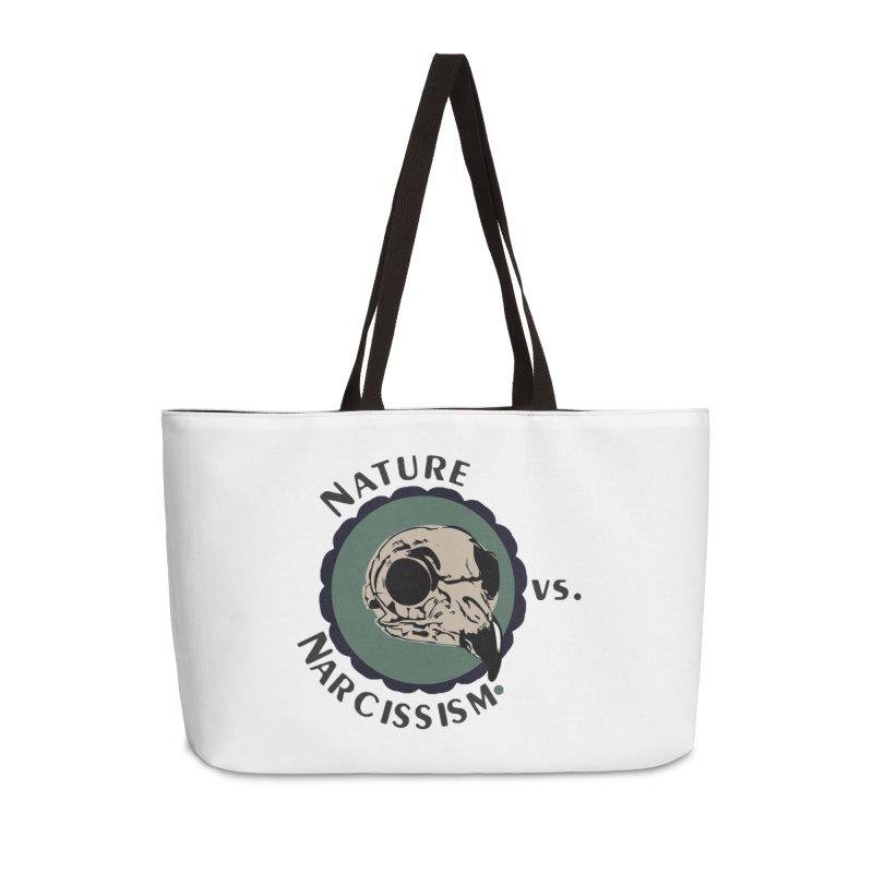 Original Nature vs Narcissism Logo Accessories Weekender Bag Bag by NaturevsNarcissism's Podcast Swag Shop