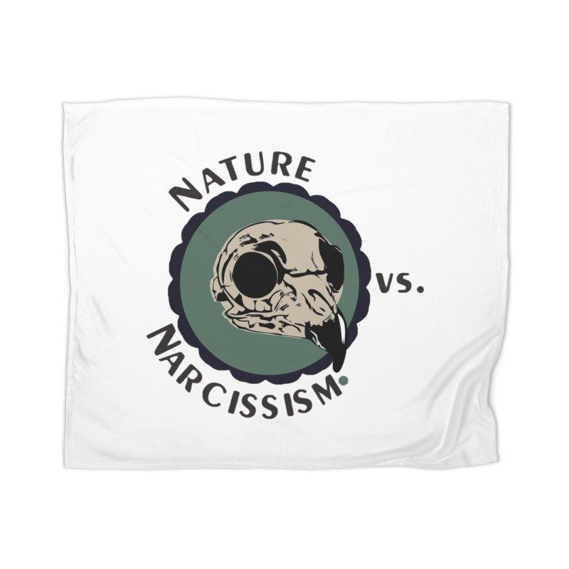 Original Nature vs Narcissism Logo Home Fleece Blanket Blanket by NaturevsNarcissism's Podcast Swag Shop