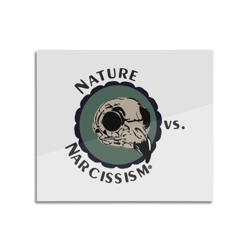 Original Nature vs Narcissism Logo Home Mounted Acrylic Print by NaturevsNarcissism's Podcast Swag Shop