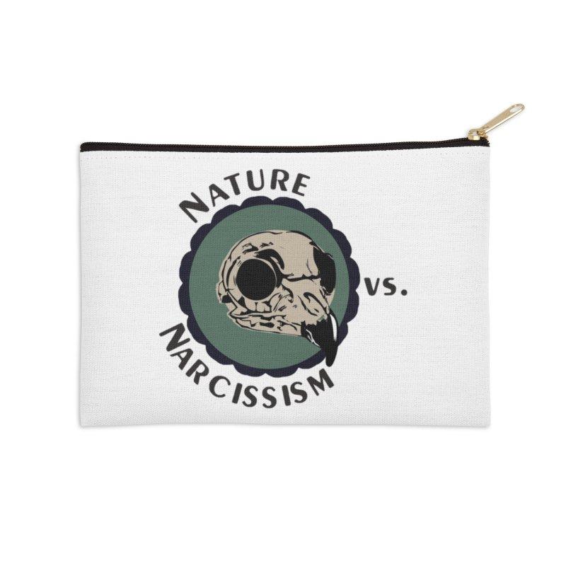 Original Nature vs Narcissism Logo (transparent) Accessories Zip Pouch by NaturevsNarcissism's Podcast Swag Shop