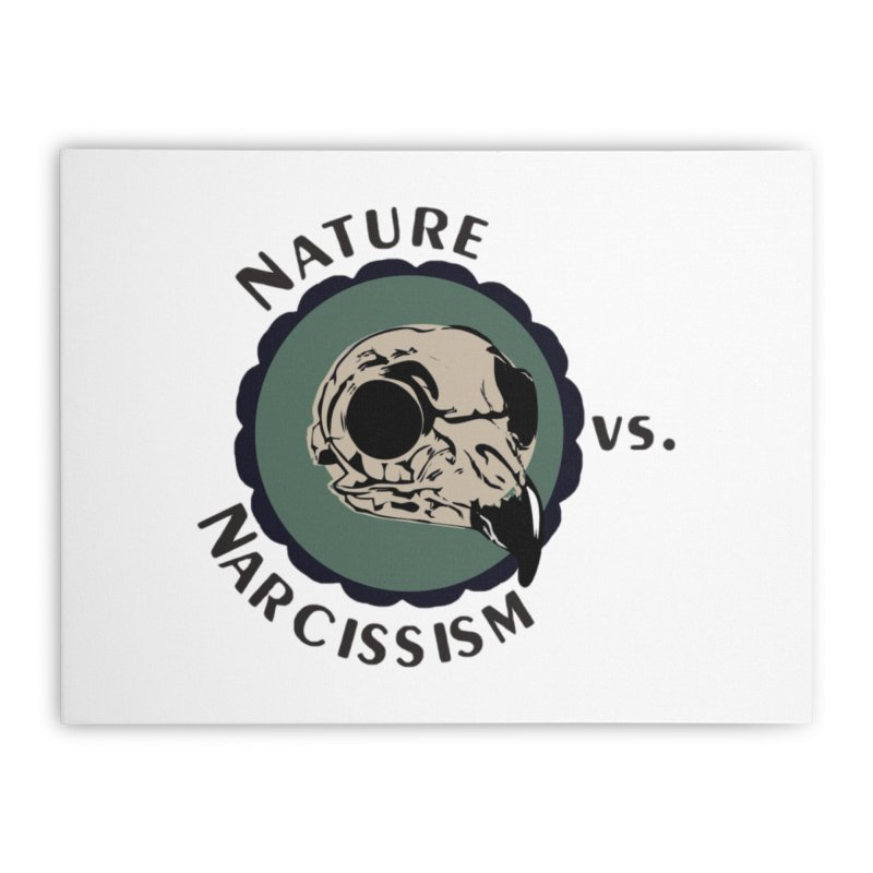 Original Nature vs Narcissism Logo (transparent) Home Stretched Canvas by NaturevsNarcissism's Podcast Swag Shop