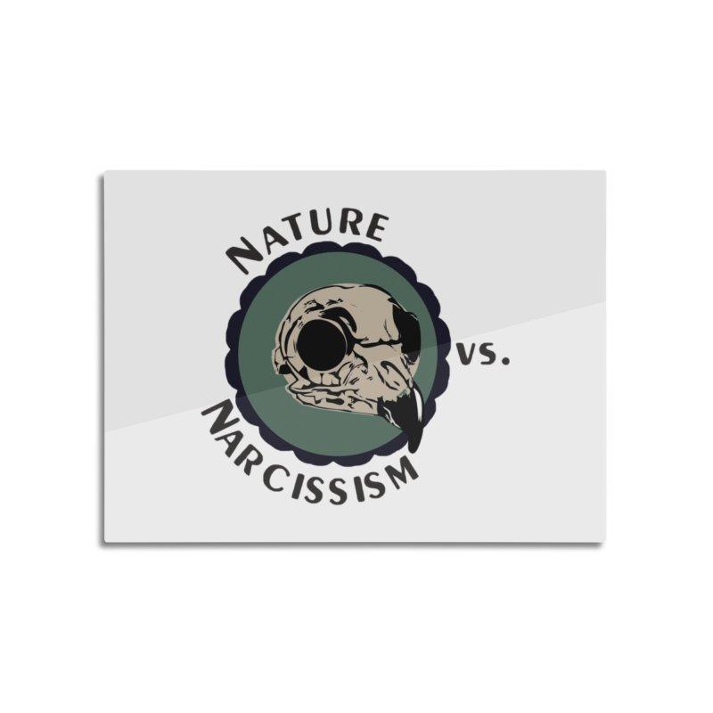 Original Nature vs Narcissism Logo (transparent) Home Mounted Aluminum Print by NaturevsNarcissism's Podcast Swag Shop