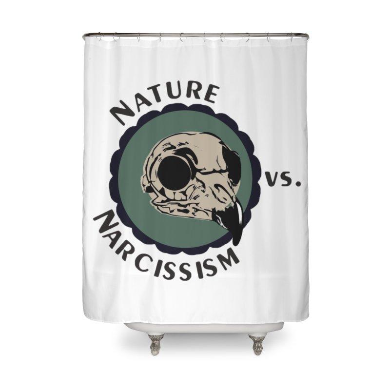 Original Nature vs Narcissism Logo (transparent) Home Shower Curtain by NaturevsNarcissism's Podcast Swag Shop