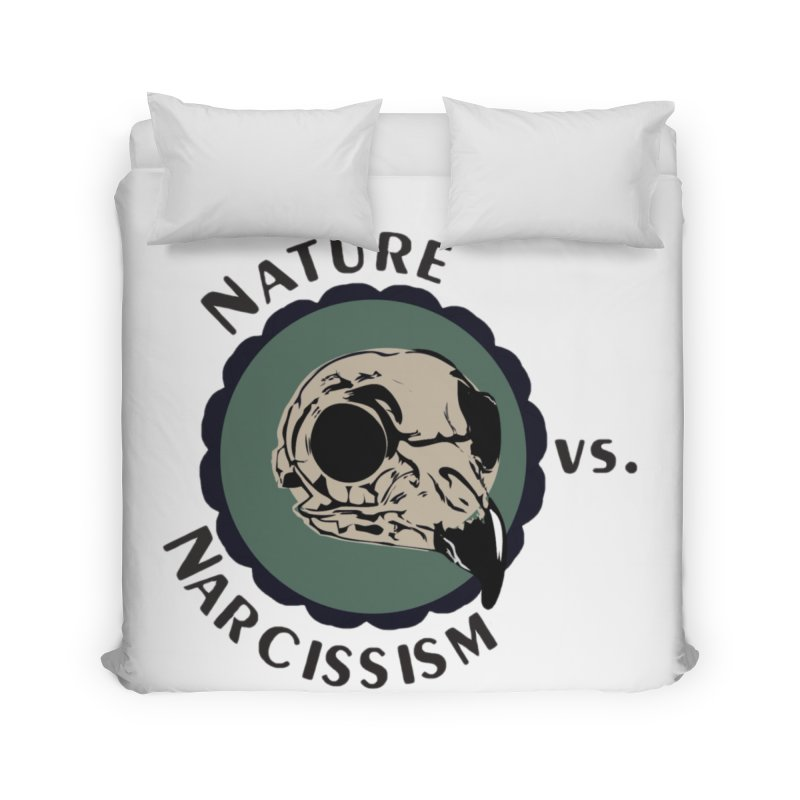 Original Nature vs Narcissism Logo (transparent) Home Duvet by NaturevsNarcissism's Podcast Swag Shop