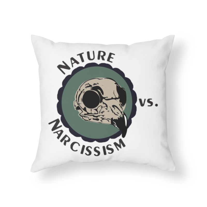 Original Nature vs Narcissism Logo (transparent) Home Throw Pillow by NaturevsNarcissism's Podcast Swag Shop