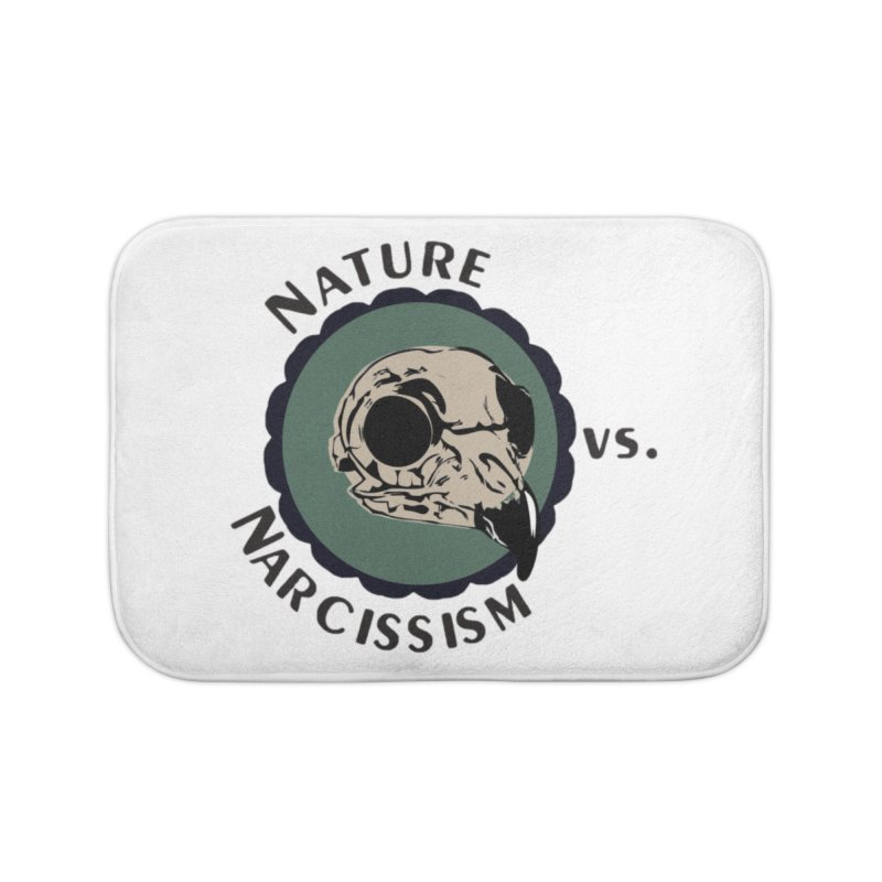 Original Nature vs Narcissism Logo (transparent) Home Bath Mat by NaturevsNarcissism's Podcast Swag Shop