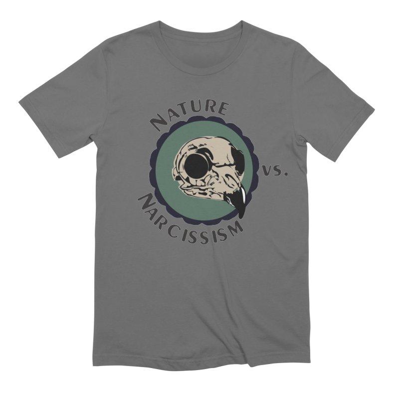 Original Nature vs Narcissism Logo (transparent) Men's Extra Soft T-Shirt by NaturevsNarcissism's Podcast Swag Shop