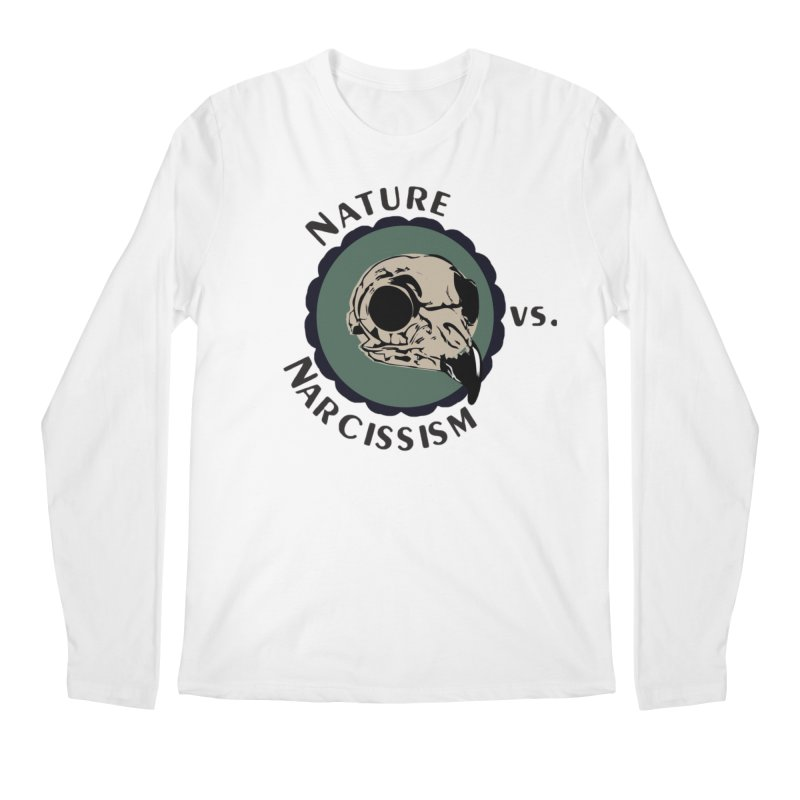 Original Nature vs Narcissism Logo (transparent) Men's Regular Longsleeve T-Shirt by NaturevsNarcissism's Podcast Swag Shop