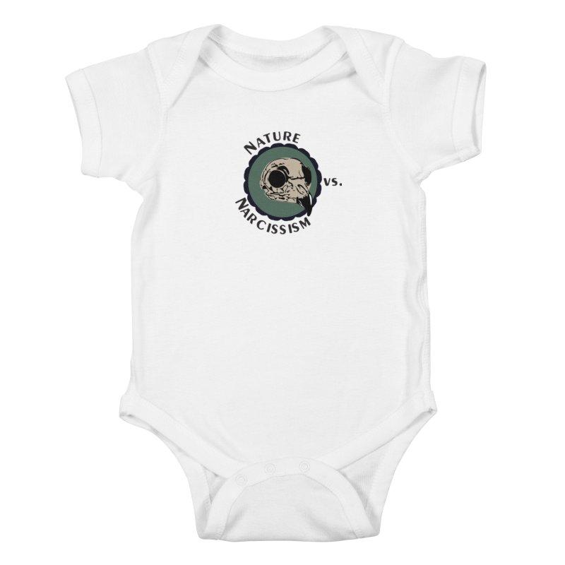Original Nature vs Narcissism Logo (transparent) Kids Baby Bodysuit by NaturevsNarcissism's Podcast Swag Shop