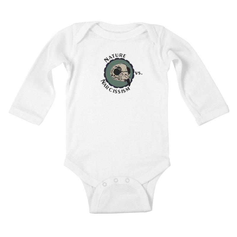 Original Nature vs Narcissism Logo (transparent) Kids Baby Longsleeve Bodysuit by NaturevsNarcissism's Podcast Swag Shop