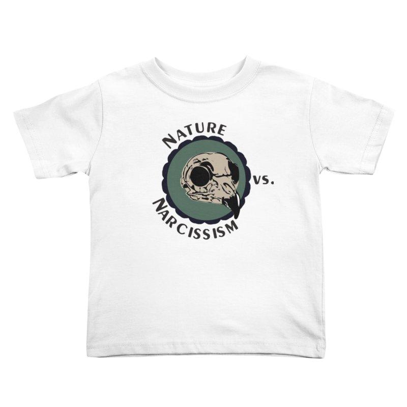 Original Nature vs Narcissism Logo (transparent) Kids Toddler T-Shirt by NaturevsNarcissism's Podcast Swag Shop