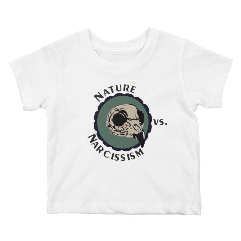 Original Nature vs Narcissism Logo (transparent) Kids Baby T-Shirt by NaturevsNarcissism's Podcast Swag Shop