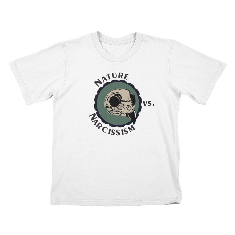 Original Nature vs Narcissism Logo (transparent) Kids T-Shirt by NaturevsNarcissism's Podcast Swag Shop