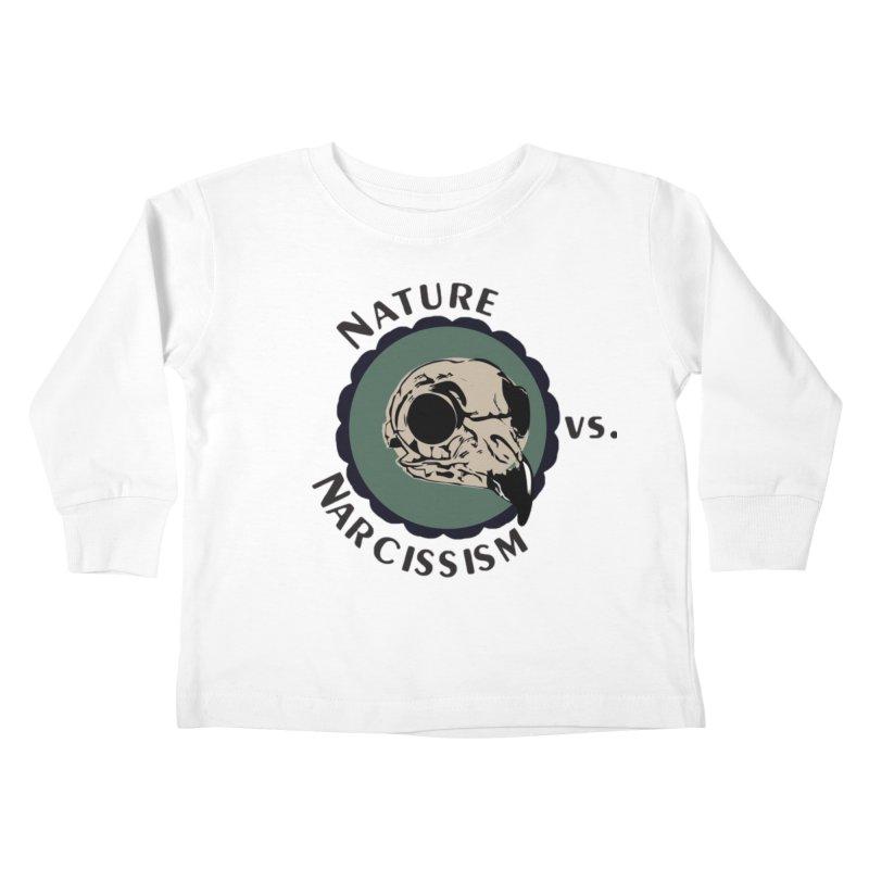 Original Nature vs Narcissism Logo (transparent) Kids Toddler Longsleeve T-Shirt by NaturevsNarcissism's Podcast Swag Shop
