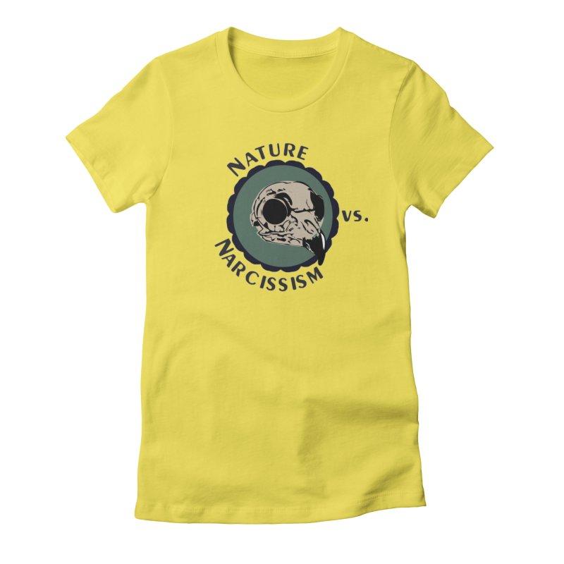 Original Nature vs Narcissism Logo (transparent) Women's Fitted T-Shirt by NaturevsNarcissism's Podcast Swag Shop