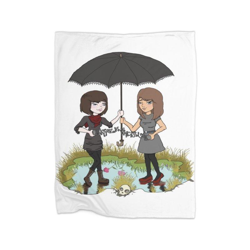 Heather & Rachelle / #SlinkyCrimes Home Fleece Blanket Blanket by NaturevsNarcissism's Podcast Swag Shop