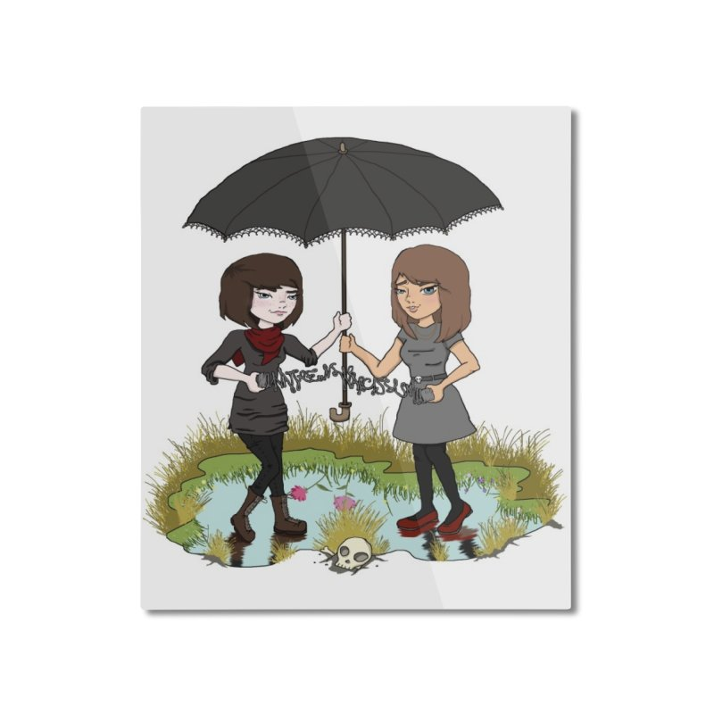 Heather & Rachelle / #SlinkyCrimes Home Mounted Aluminum Print by NaturevsNarcissism's Podcast Swag Shop