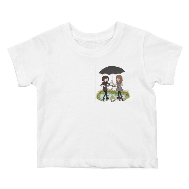Heather & Rachelle / #SlinkyCrimes Kids Baby T-Shirt by NaturevsNarcissism's Podcast Swag Shop