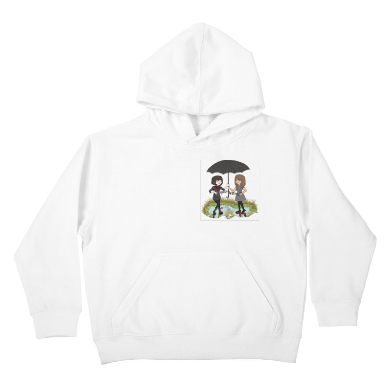 Heather & Rachelle / #SlinkyCrimes Kids Pullover Hoody by NaturevsNarcissism's Podcast Swag Shop