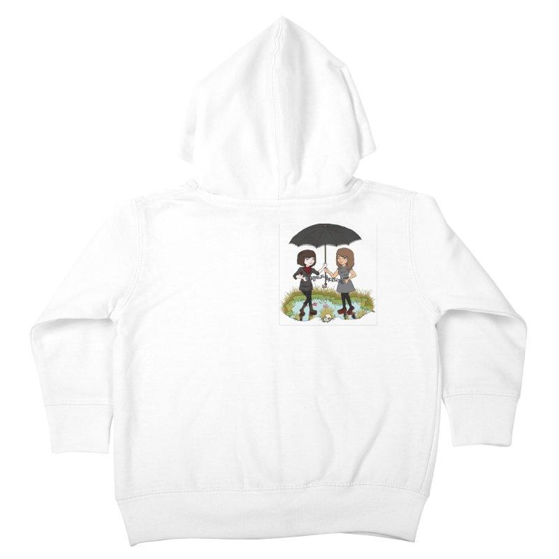 Heather & Rachelle / #SlinkyCrimes Kids Toddler Zip-Up Hoody by NaturevsNarcissism's Podcast Swag Shop