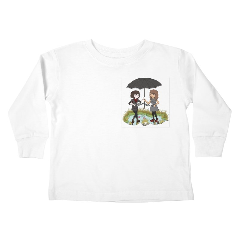 Heather & Rachelle / #SlinkyCrimes Kids Toddler Longsleeve T-Shirt by NaturevsNarcissism's Podcast Swag Shop