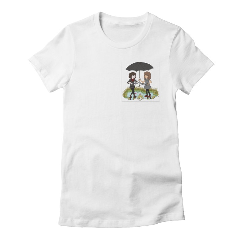 Heather & Rachelle / #SlinkyCrimes Women's Fitted T-Shirt by NaturevsNarcissism's Podcast Swag Shop