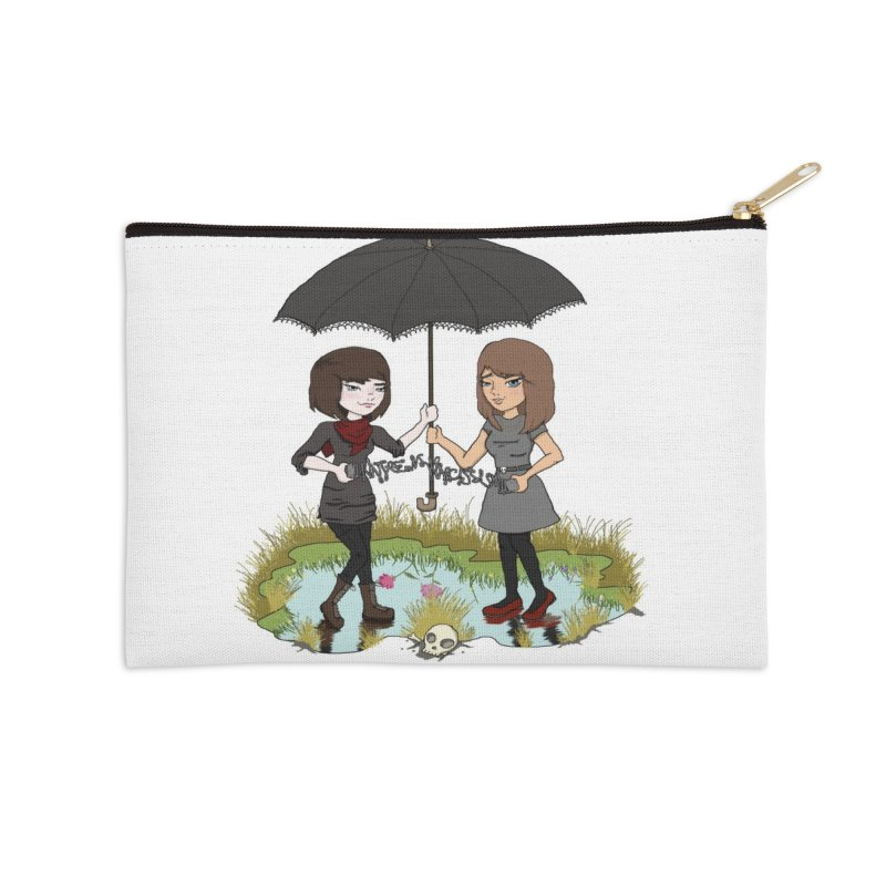 Heather & Rachelle / #SlinkyCrimes Accessories Zip Pouch by NaturevsNarcissism's Podcast Swag Shop