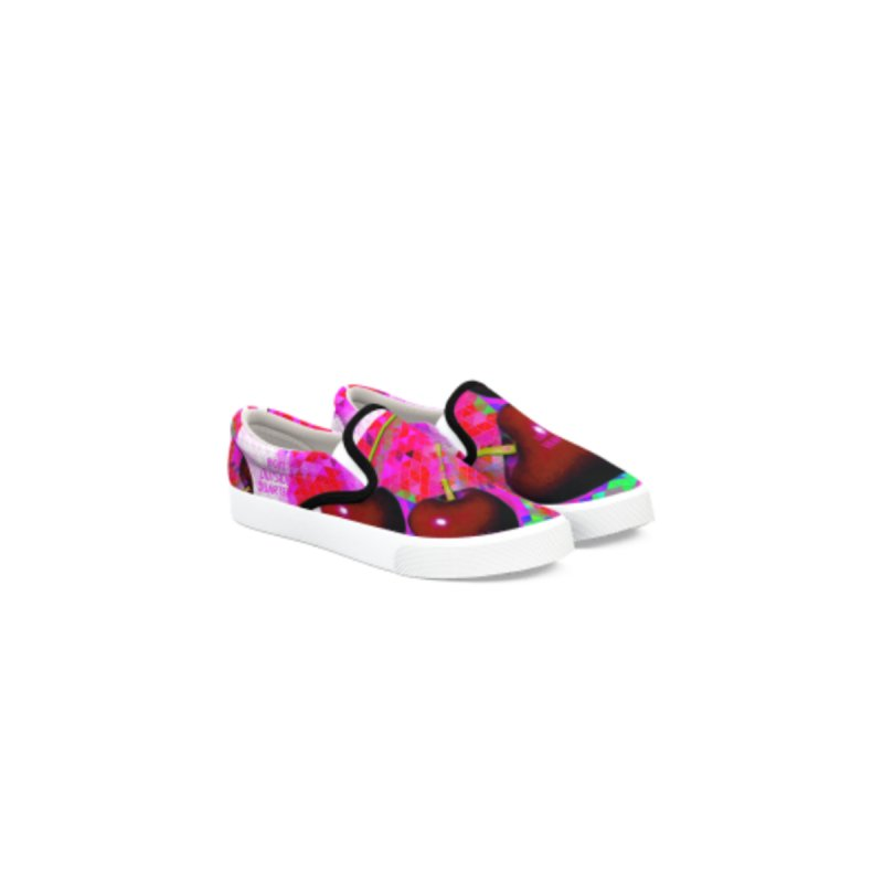 Cherry Slip-ons by Nawtacop.Party!!!!
