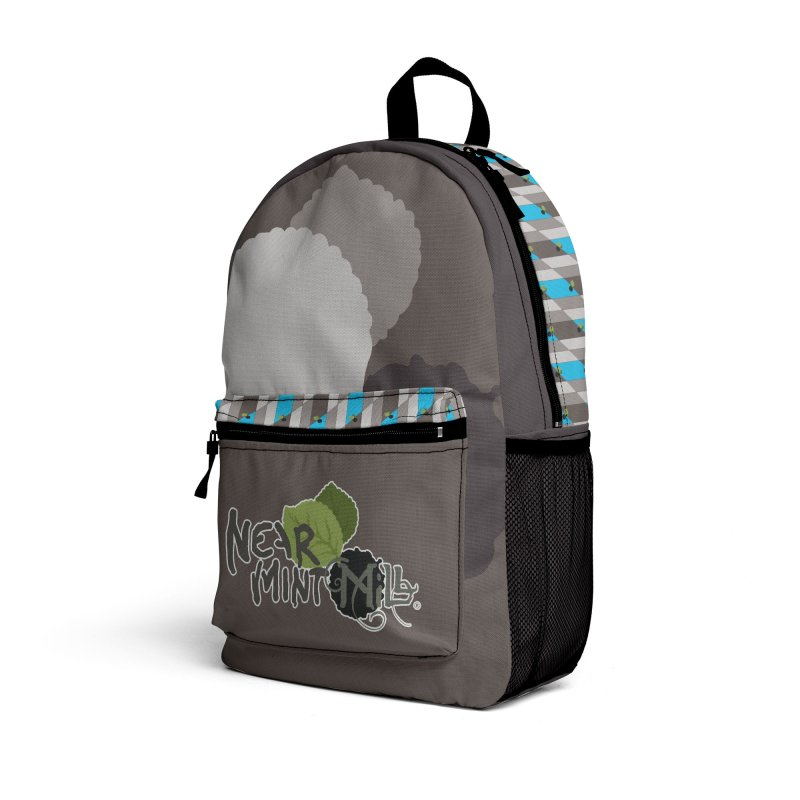 NMM Backpack (grey) Accessories Bag by Near Mint Mill's Artist Shop