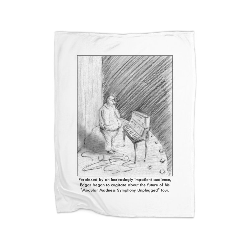 Edgar's Dilemma Home Fleece Blanket Blanket by NewManStudios's Artist Shop