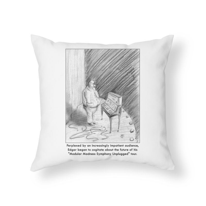 Edgar's Dilemma Home Throw Pillow by NewManStudios's Artist Shop