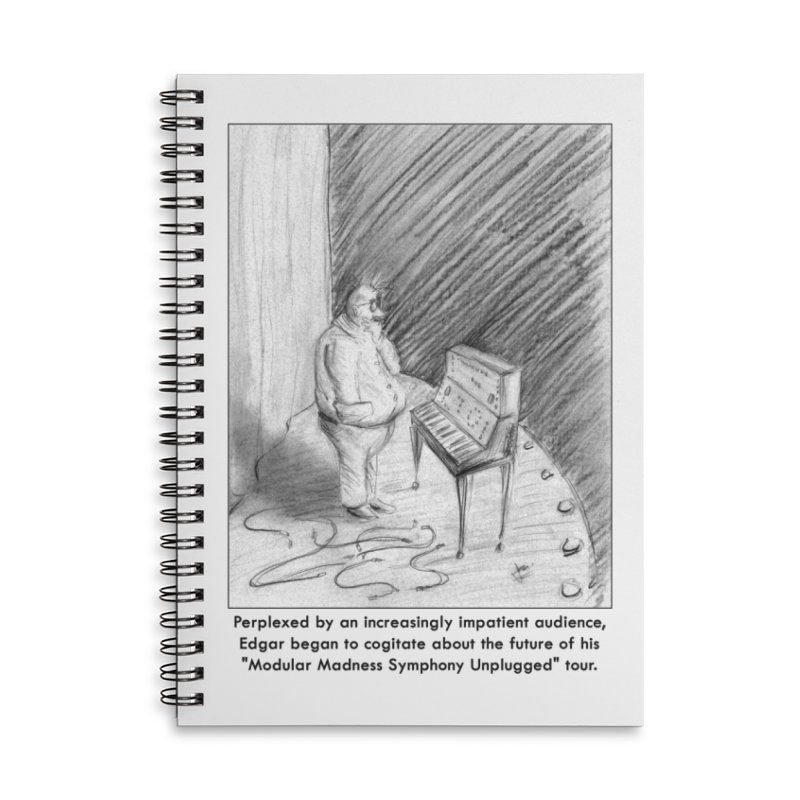 Edgar's Dilemma Accessories Lined Spiral Notebook by NewManStudios's Artist Shop