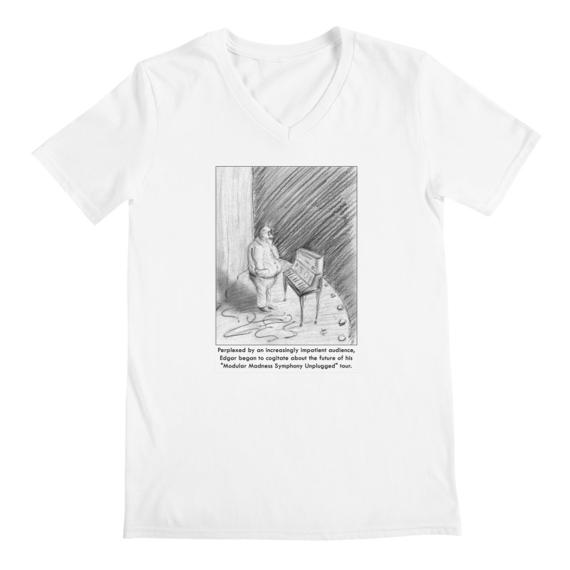 Edgar's Dilemma Men's V-Neck by NewManStudios's Artist Shop