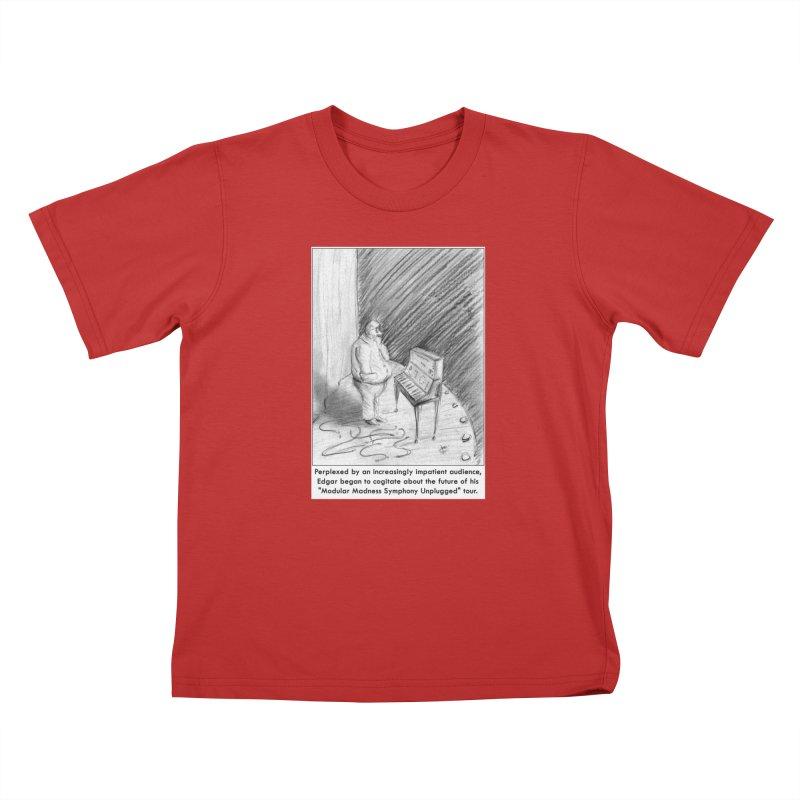 Edgar's Dilemma Kids T-Shirt by NewManStudios's Artist Shop