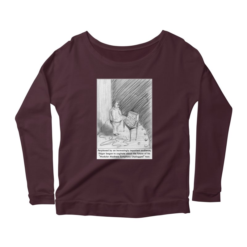 Edgar's Dilemma Women's Longsleeve Scoopneck  by NewManStudios's Artist Shop