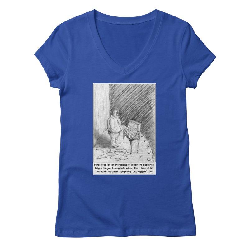 Edgar's Dilemma Women's V-Neck by NewManStudios's Artist Shop