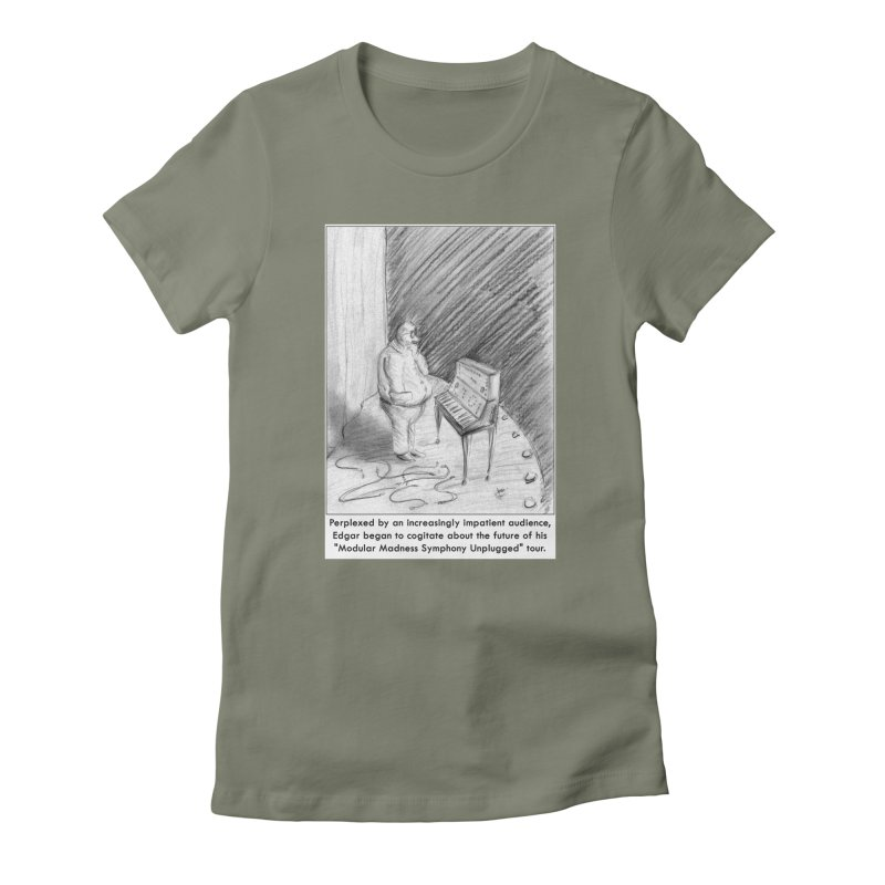 Edgar's Dilemma Women's Fitted T-Shirt by NewManStudios's Artist Shop