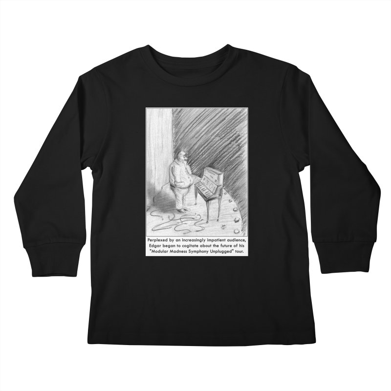 Edgar's Dilemma Kids Longsleeve T-Shirt by NewManStudios's Artist Shop