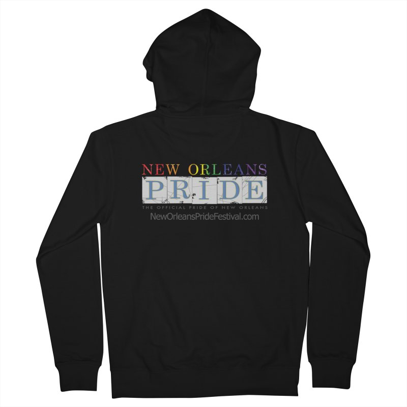 New Orleans Pride Logo ™ Men's French Terry Zip-Up Hoody by New Orleans Pride