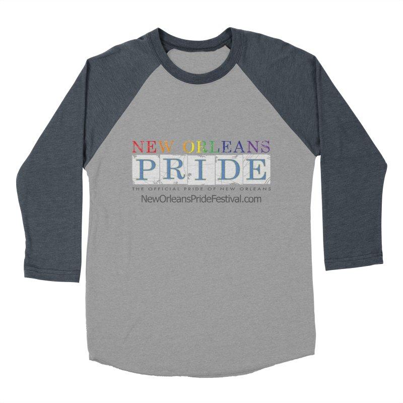 New Orleans Pride Logo ™ Men's Baseball Triblend Longsleeve T-Shirt by New Orleans Pride