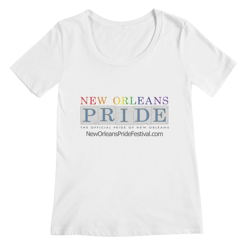 New Orleans Pride Logo ™ Women's Regular Scoop Neck by New Orleans Pride