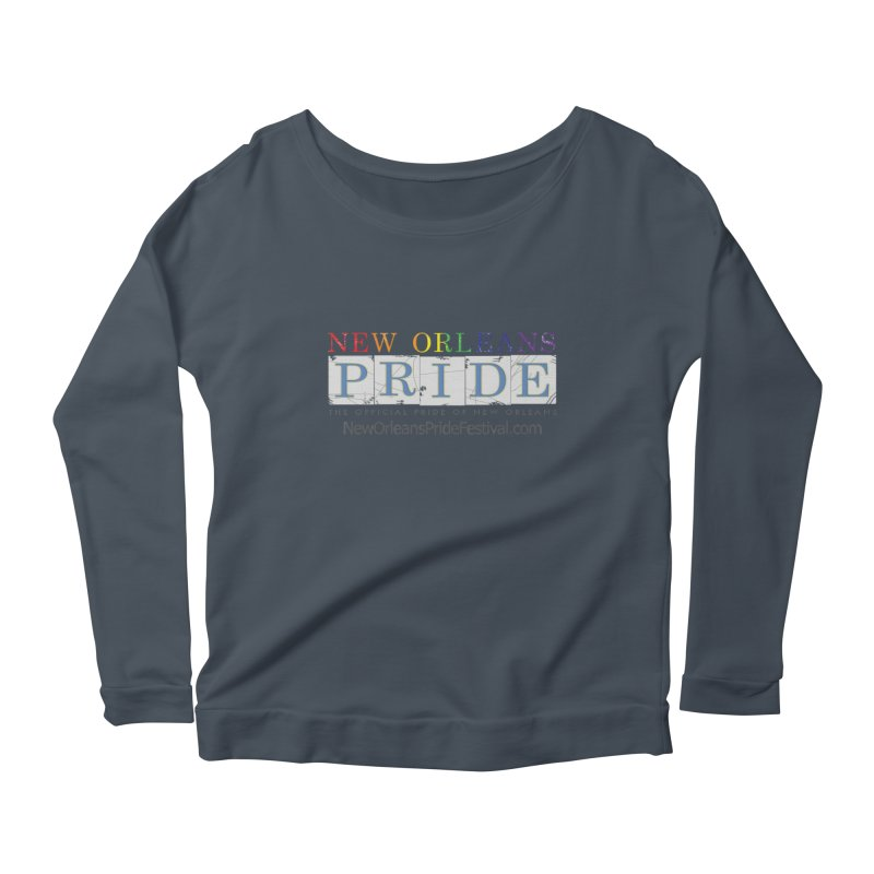 New Orleans Pride Logo ™ Women's Scoop Neck Longsleeve T-Shirt by New Orleans Pride