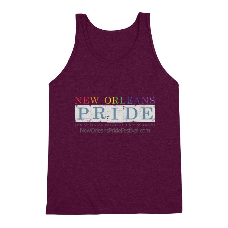 New Orleans Pride Logo ™ Men's Triblend Tank by New Orleans Pride