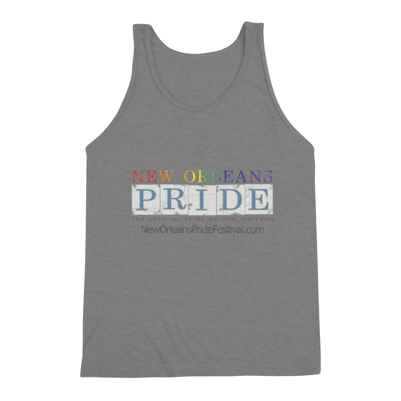 New Orleans Pride Logo ™ Men's Triblend Tank by New Orleans Pride