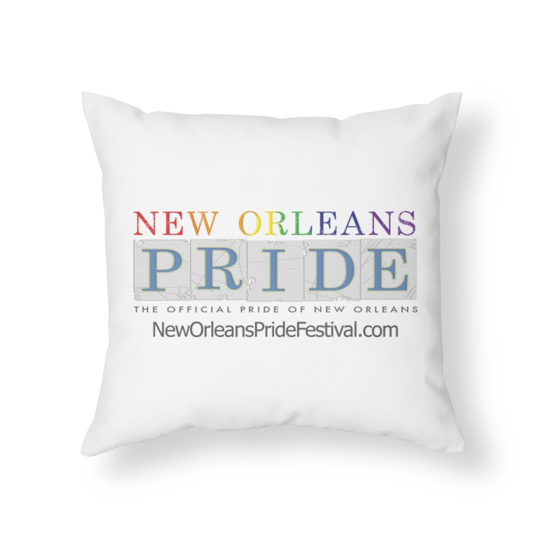 New Orleans Pride Logo ™ Home Throw Pillow by New Orleans Pride